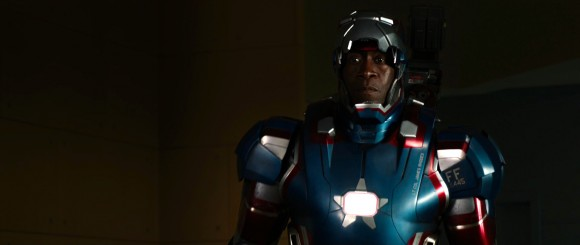 Don Cheadle as the Iron Patriot in 'Iron Man 3'