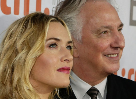 Winslet with director Rickman