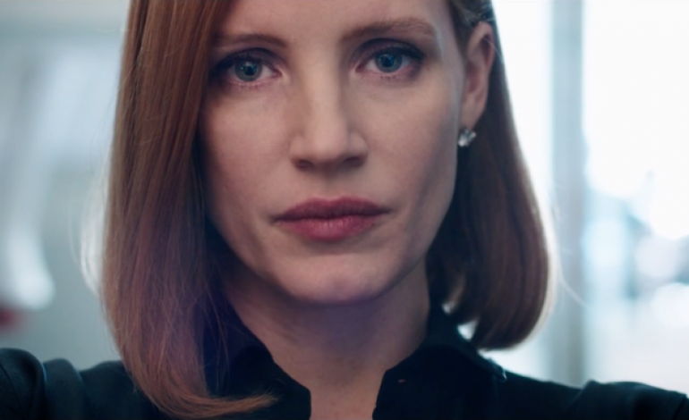 Jessica Chastain is a sinister safety advocate in 'Miss Sloane' teaser trailer