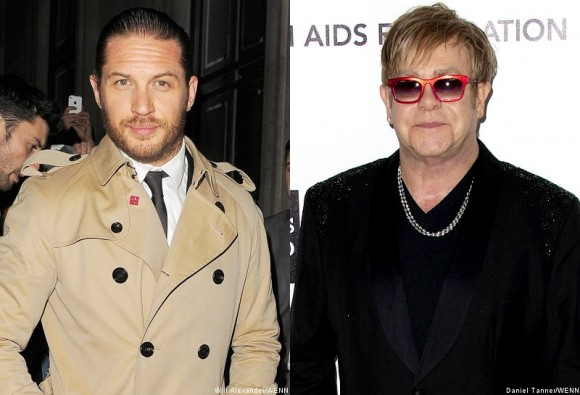 Tom Hardy and Sir Elton John