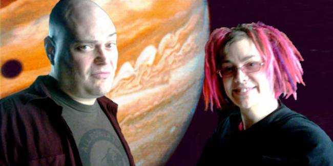 Andy and Lana Wachowski - writers, directors and producers of 'Jupiter Ascending'.