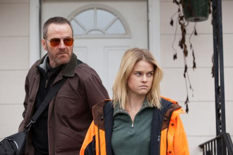 Bryan Cranston and Alice Eve in 'Cold Comes the Night'