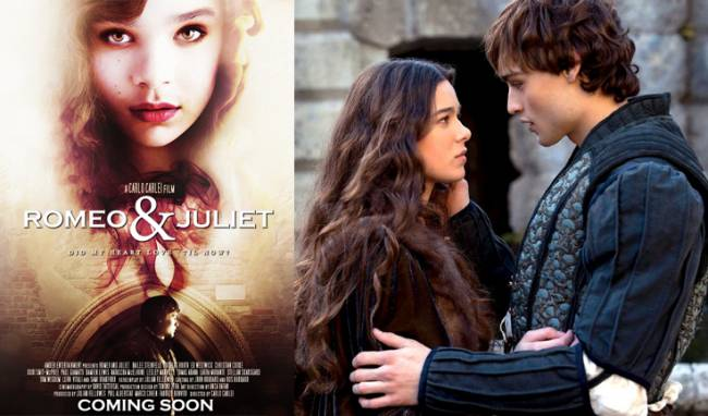 Hailee Steinfeld and Douglas Booth as Romeo and Juliet.
