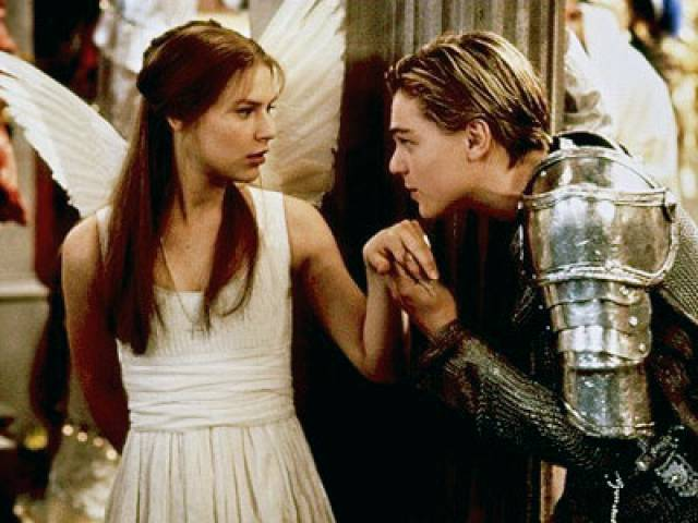 Leonardo DiCpario and Claire Danes in the 1996, Baz Luhrman 'Romeo and Juliet'