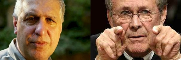 Director Errol Morris and Donald Rumsfeld, 'The Unknown Known'