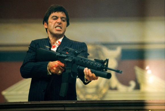Al Pacino in the 1983 remake of 'Scarface'