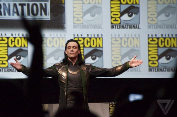 Tom Hiddleston as Loki at SDCC