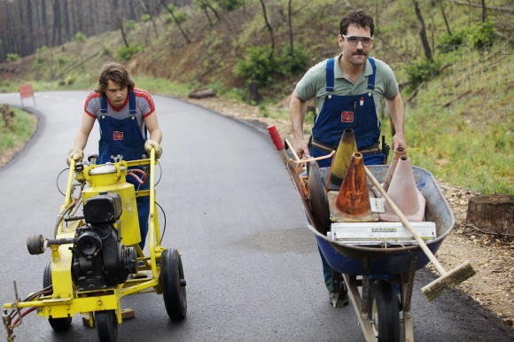 Paul Rudd (right) and Emile Hirsch in 'Prince Avalanche'