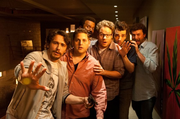 Left to Right: James Franco, Jonah Hill, Craig Robinson, Seth Rogen, Jay Baruchel and Danny McBride in 'This is the End'
