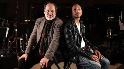 Hans Zimmer (left) with Pharrell Williams (right)