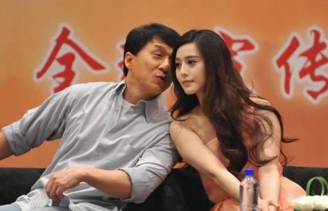 Jackie Chan and Fan Bingbing of 'Skiptrace'