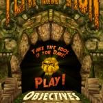 Game menu for 'Temple Run'