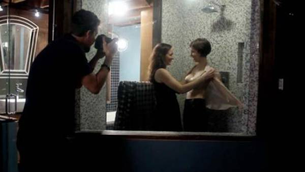 Adam Wingard, Sophia Takal and Helen Rogers in '24 Exposures'