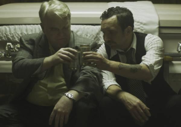 Philip Seymour Hoffman and Eddie Marsan in 'God's Pocket'
