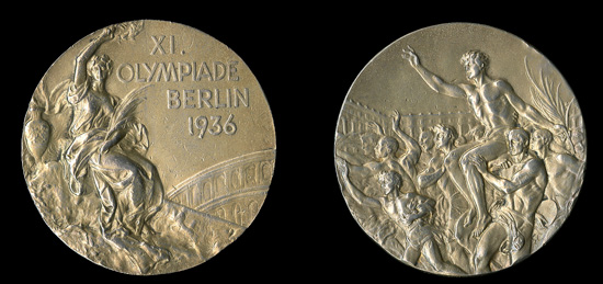The gold medal from the 1936 Olympics
