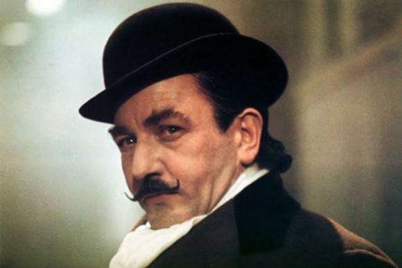 Albert Finney as Hercule Poirot in the original 1974 adaptation of 'Murder on the Orient Express'