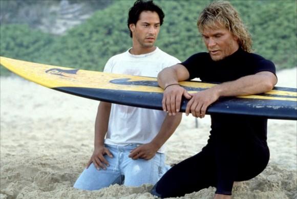 Keanu Reeves and Patrick Swayze in 'Point Break' (1991)
