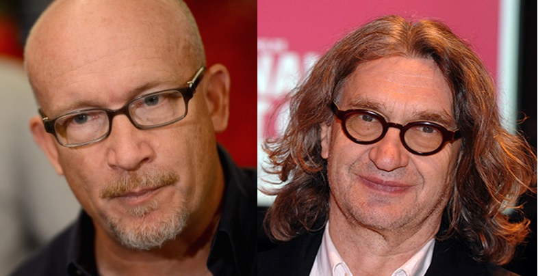 Alex Gibney is on the left and Wim Wenders is on the right.