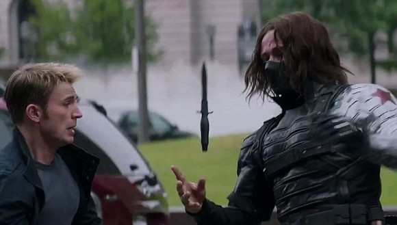 captain america the winter soldier fight