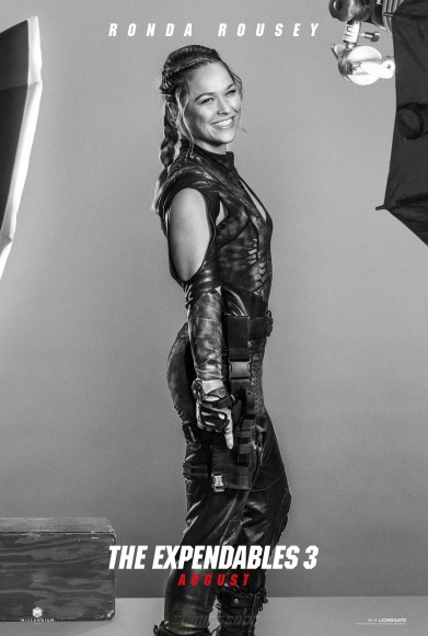 Ronda Rousey, the only woman to join the Expendables crew