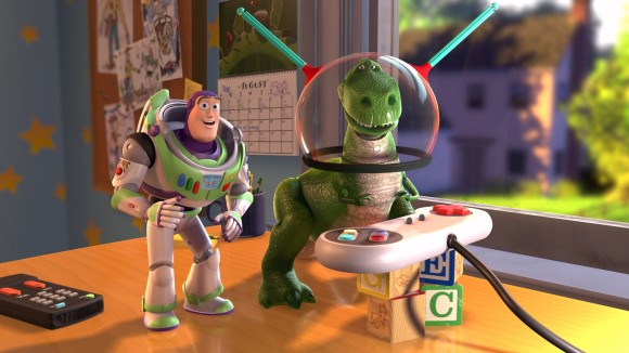 If bringing dinosaurs and spacemen together isn't a noble cause, I don't know what is.