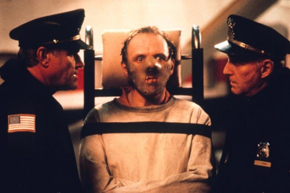 Anthony Hopkins is Dr. Hannibal Lecter in The Silence of the Lambs