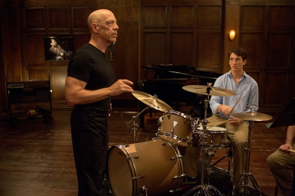 J.K. Simmons pushes Miles Teller to perfection in 'Whiplash'