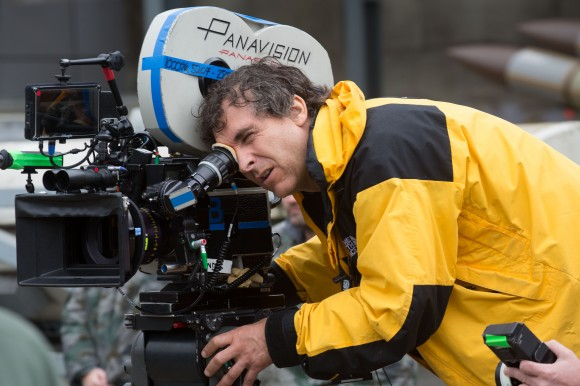 Director Doug Liman, on the set of Edge of Tomorrow