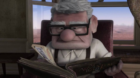 "Who gets credit for the ""acting"" in this moment? Ed Asner provided the voice, but should it go to him or to character modeling artists Paul Aichele and Michael Comet or character supervising animator Thomas Jordan or character art director Albert Lozano or... you get the idea."