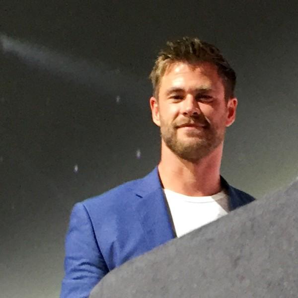 Chris Hemsworth at Marvel's Hall H panel